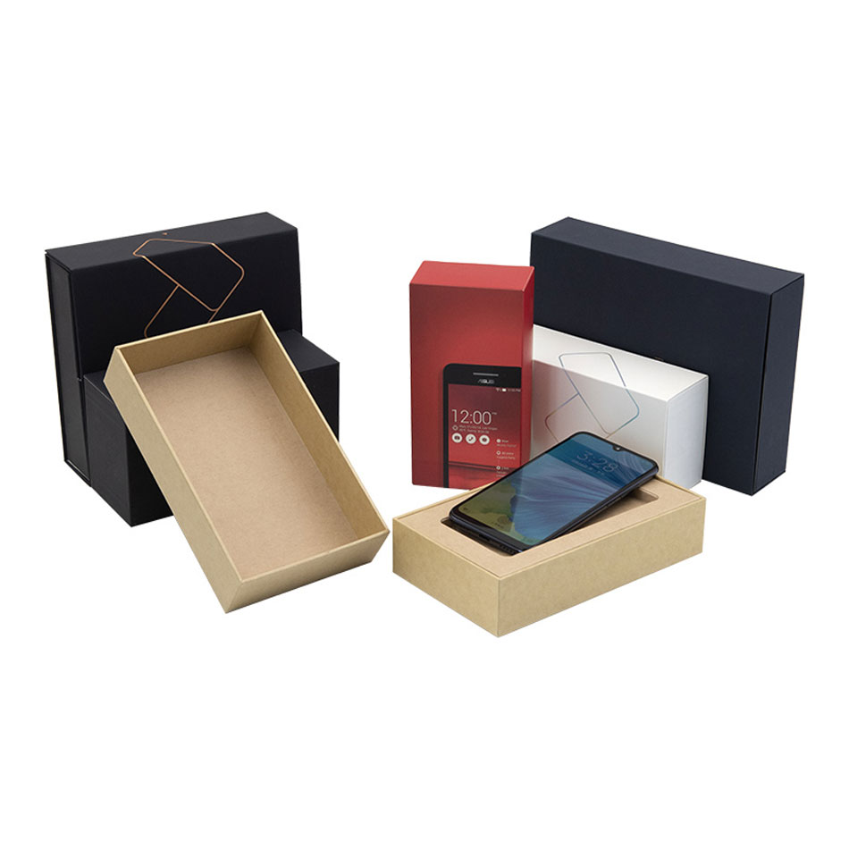 Custom Luxury Black Paper Package Mobile Handy Packaging Boxen
